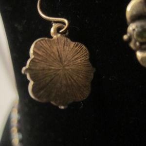 Jewelry - Dainty Crystal Necklace Earrings Set Vintage EUC